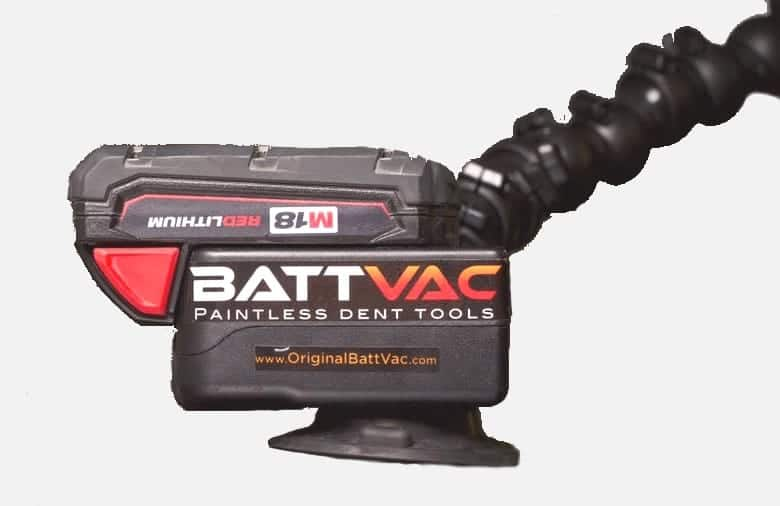 The Batt-vac Mounting System ensures a constant vacuum pressure and keeps the mount in place